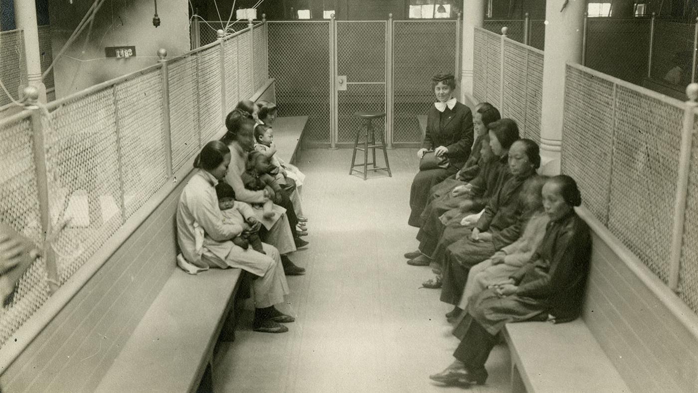 Women detainees at Angel Island. Photo: California Historical Society