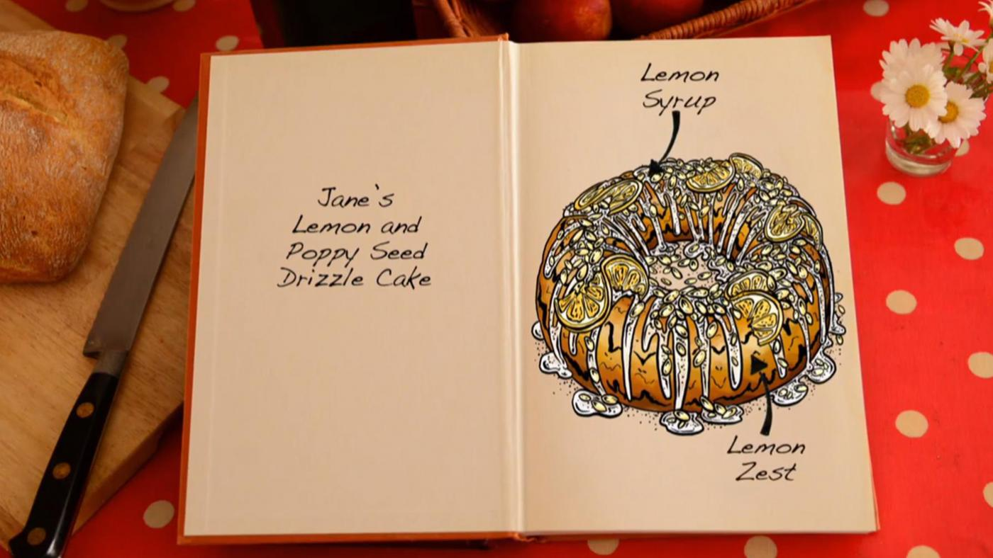 Jane's Lemon Poppy Seed Drizzle Cake on The Great British Baking Show
