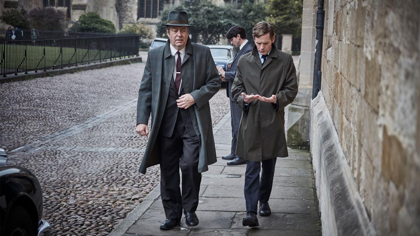 Roger Allam as Thursday and Shaun Evans as Morse in Endeavour. Photo: ITV and Masterpiece