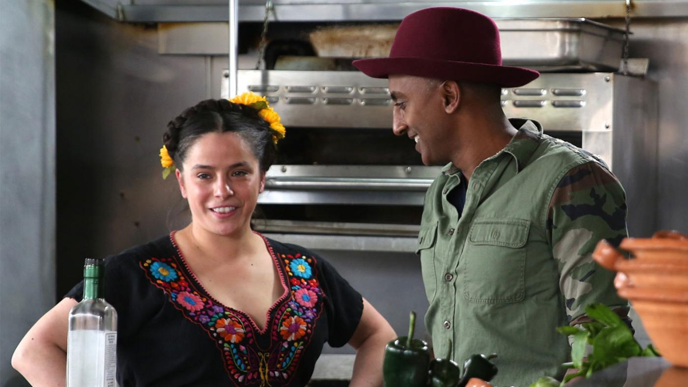 Marcus Samuelsson meets Chicago chef Diana Dávila at her restaurant Mi Tocaya Antojería in 'No Passport Required.' Photo: Christine Carreira