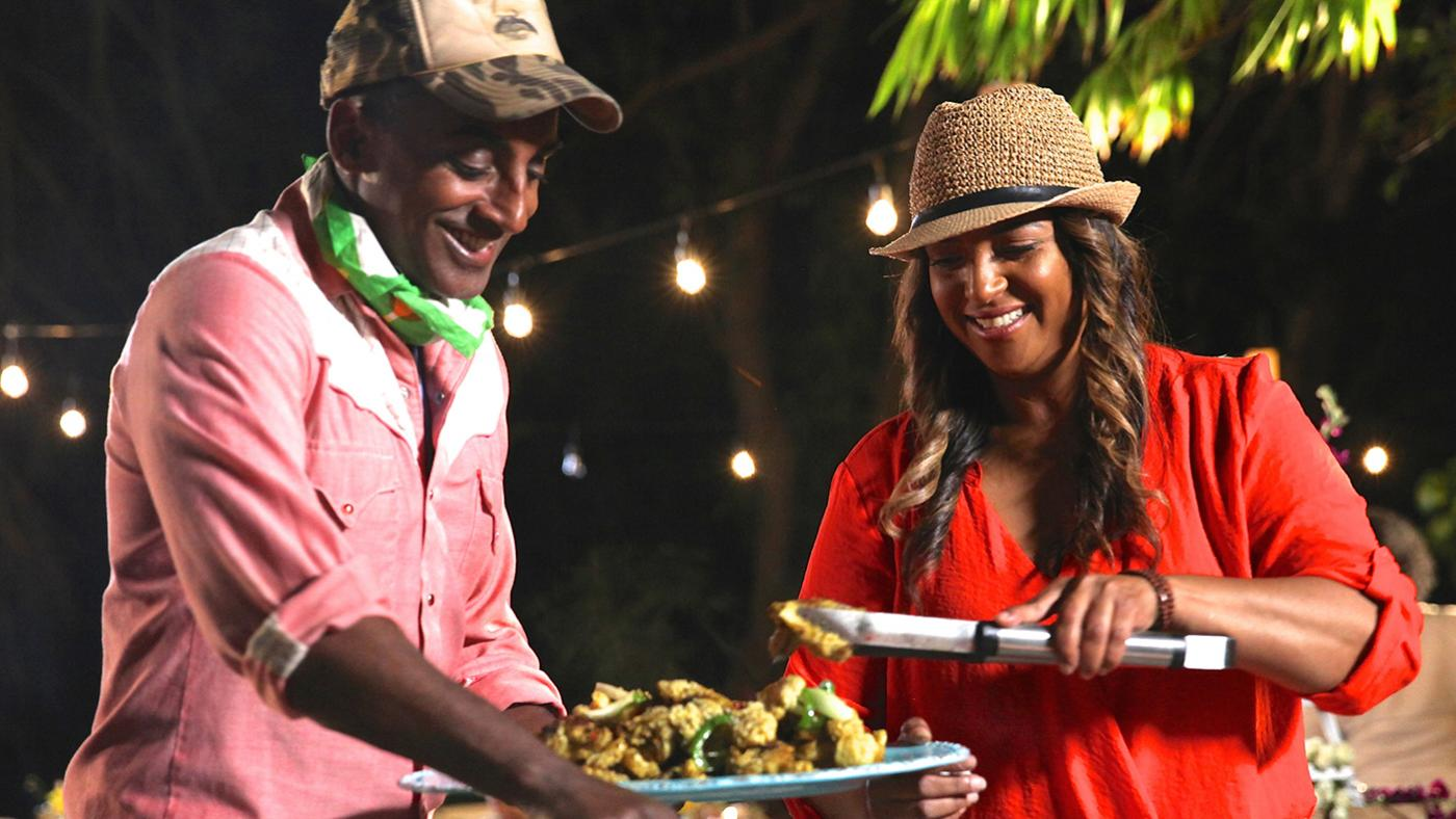 "Chef Thia and Marcus Samuelsson prepare a meal for their Beach BBQ in Miami in ""No Passport Required."" Photo: Christine Carreira"