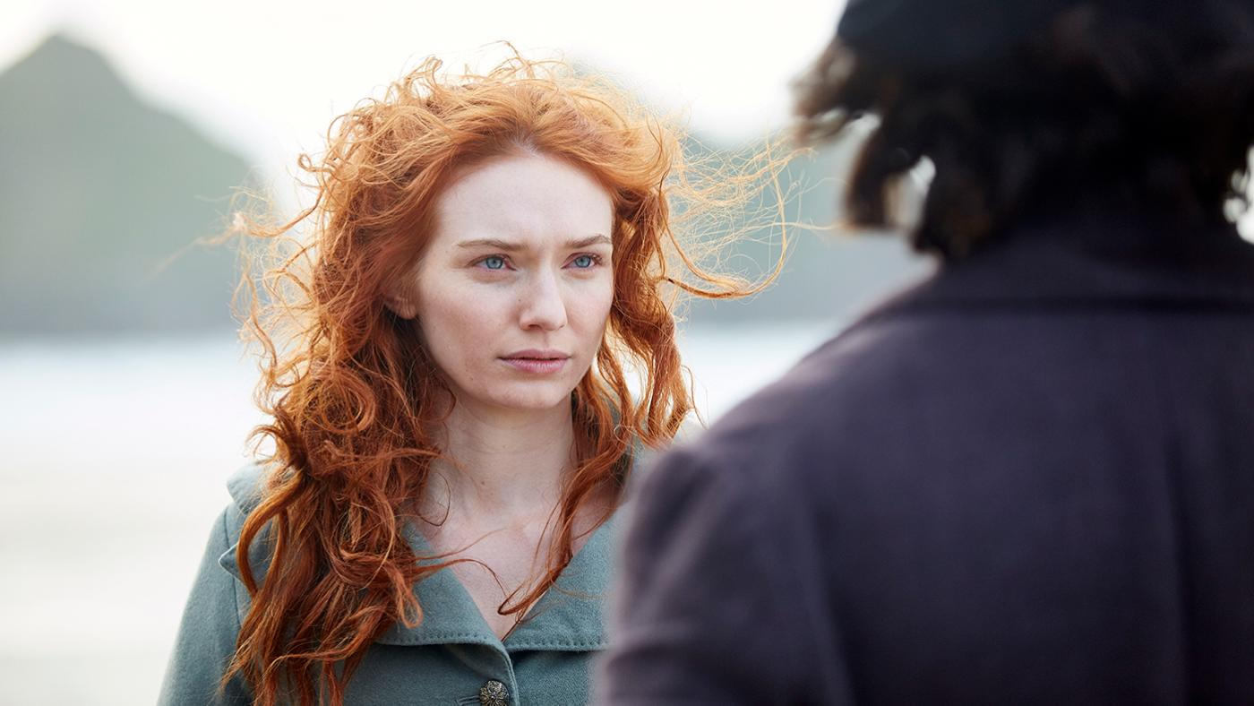 Eleanor Tomlinson as Demelza in Poldark. Photo: Mammoth Screen for BBC and MASTERPIECE