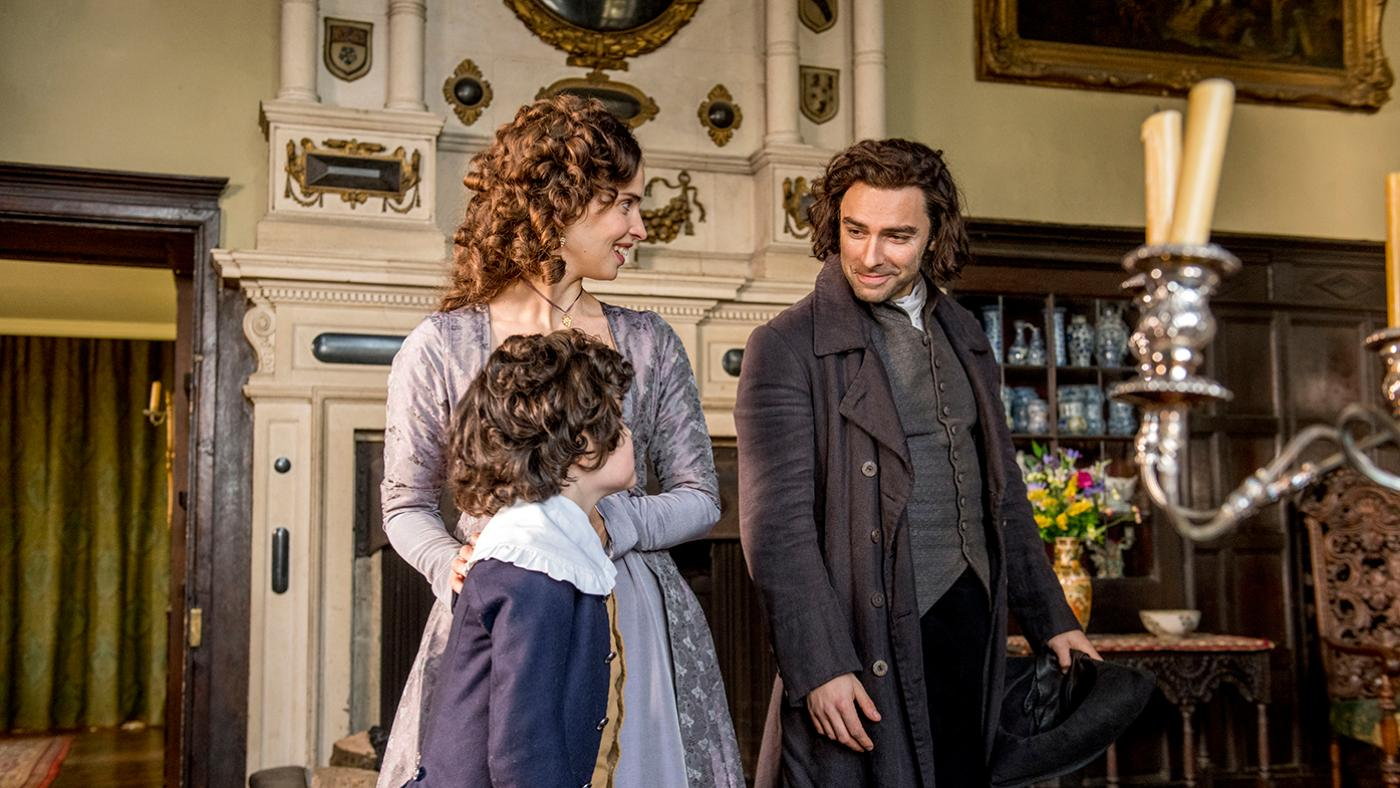 Heida Reed as Elizabeth and Aidan Turner as Ross in Poldark. Photo: Mammoth Screen for BBC and MASTERPIECE