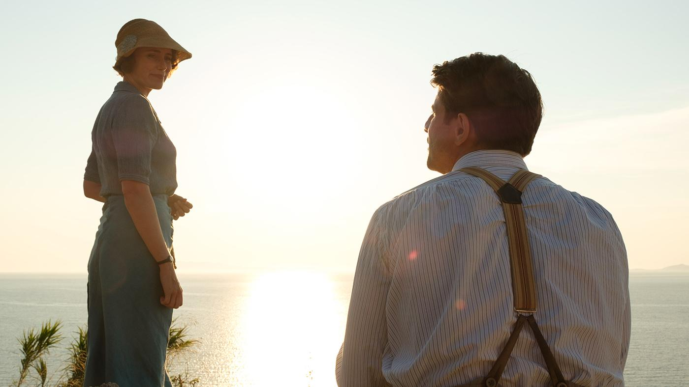 Louisa Durrell (KEELEY HAWES) & Spiro (ALEXIS GEORGOULIS) in The Durrells in Corfu. Photo: Joss Barratt for Sid Gentle Films & MASTERPIECE