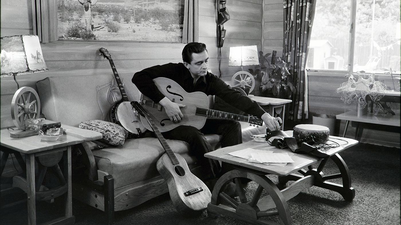 Johnny Cash at his home in California, 1960. Photo: Courtesy Sony Music Archives