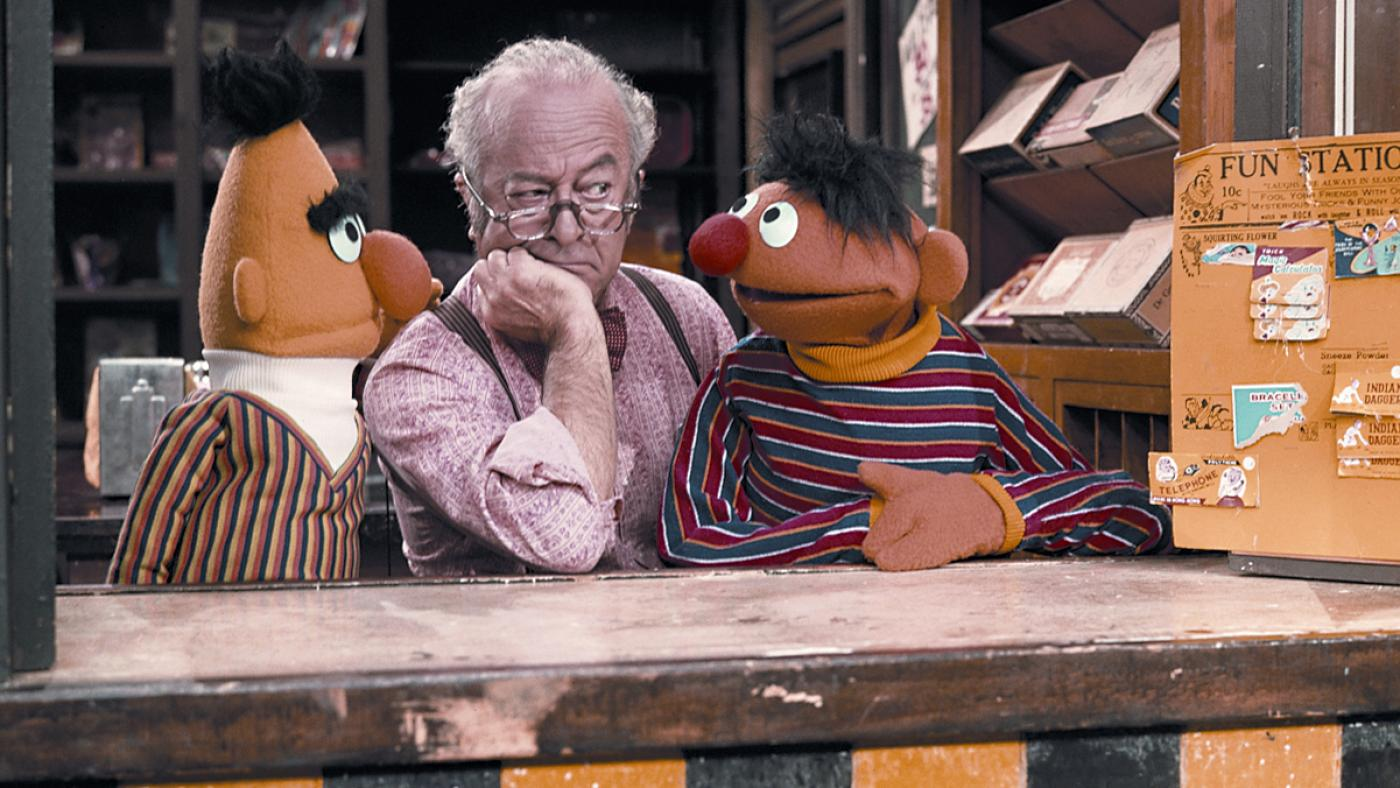 Mr. Hooper with Bert and Ernie. Image: Sesame Workshop