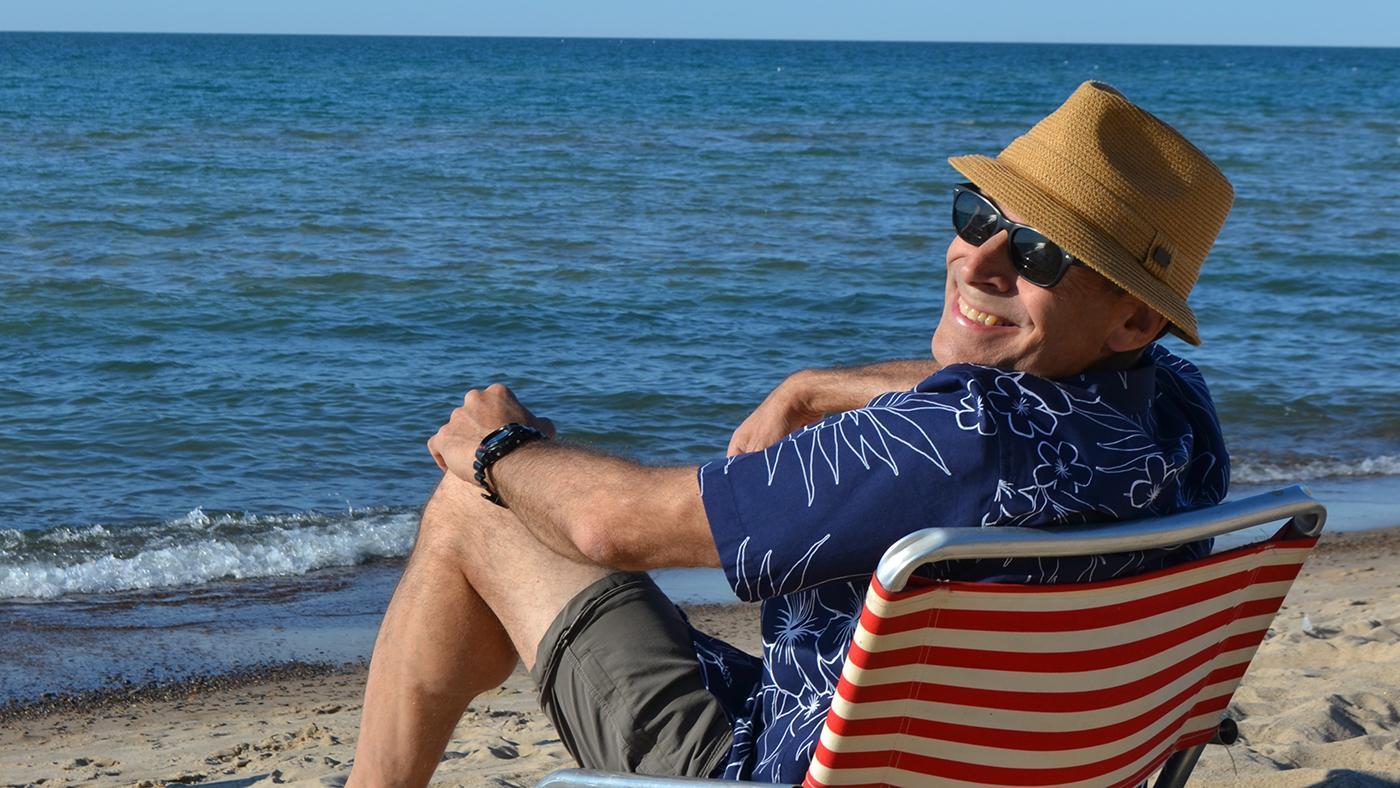 Geoffrey Baer at the beach