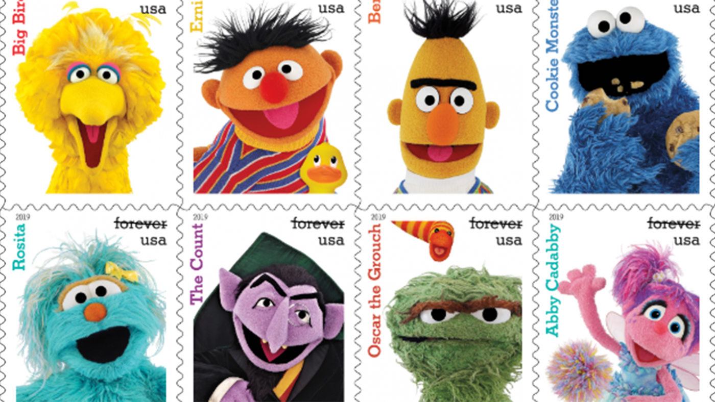 The United States Postal Service's new Sesame Street stamps