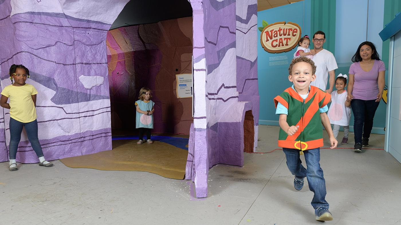 A new Nature Cat exhibit at Kohl Children's Museum. Photo: WTTW/Ken Carl