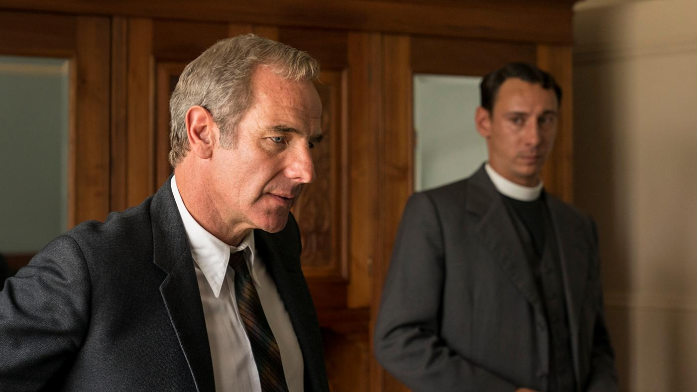 Geordie and Leonard in Grantchester. Photo: Kudos and MASTERPIECE