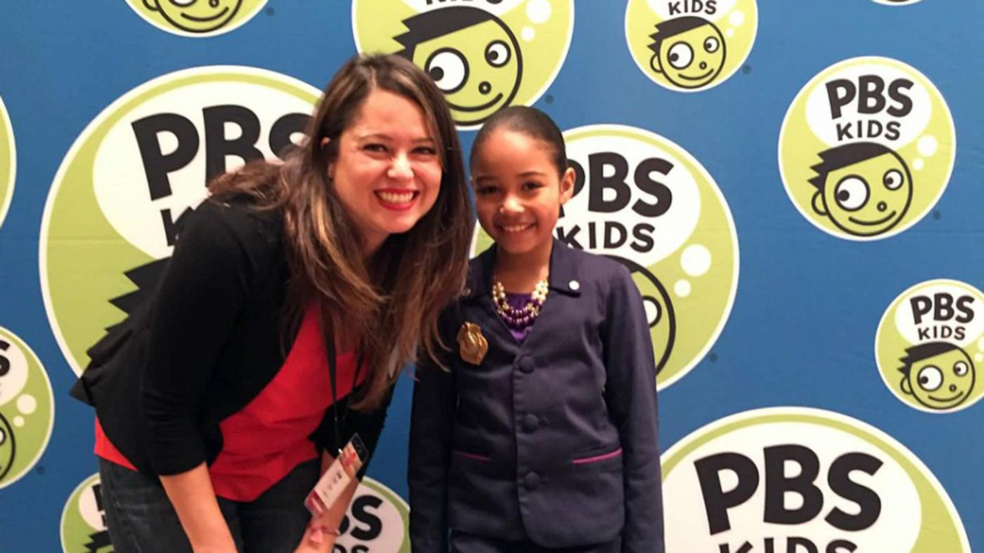 Lisa Tipton, WTTW's new Head of Programming and Pledge, and Ms. O from 'Odd Squad.'
