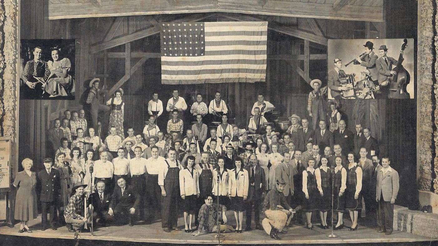 The WLS National Barn Dance Cast, October, 1944. Image: Courtesy Lee Cannon/Flickr