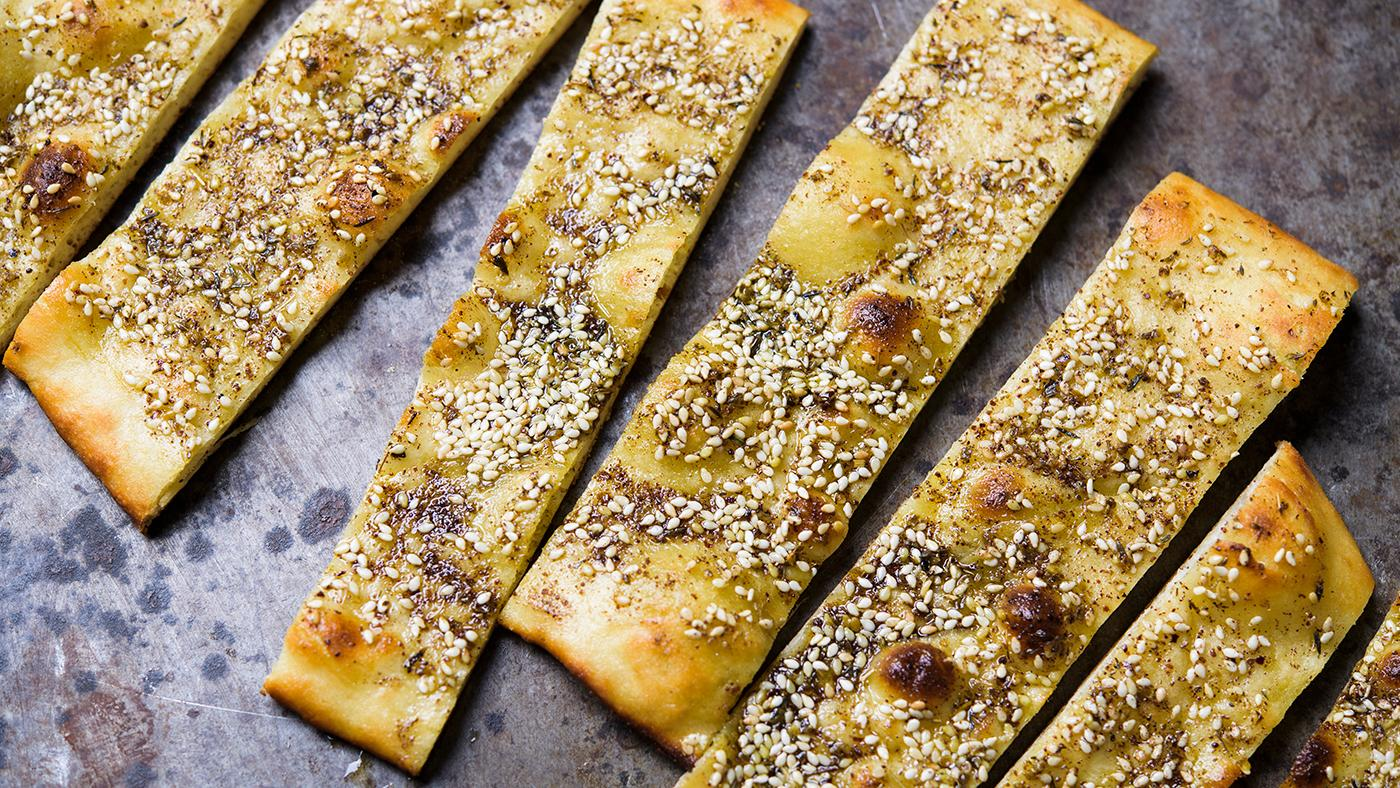 Za'atar flatbreads from Milk Street. Photo: Connie Miller of CB Creatives