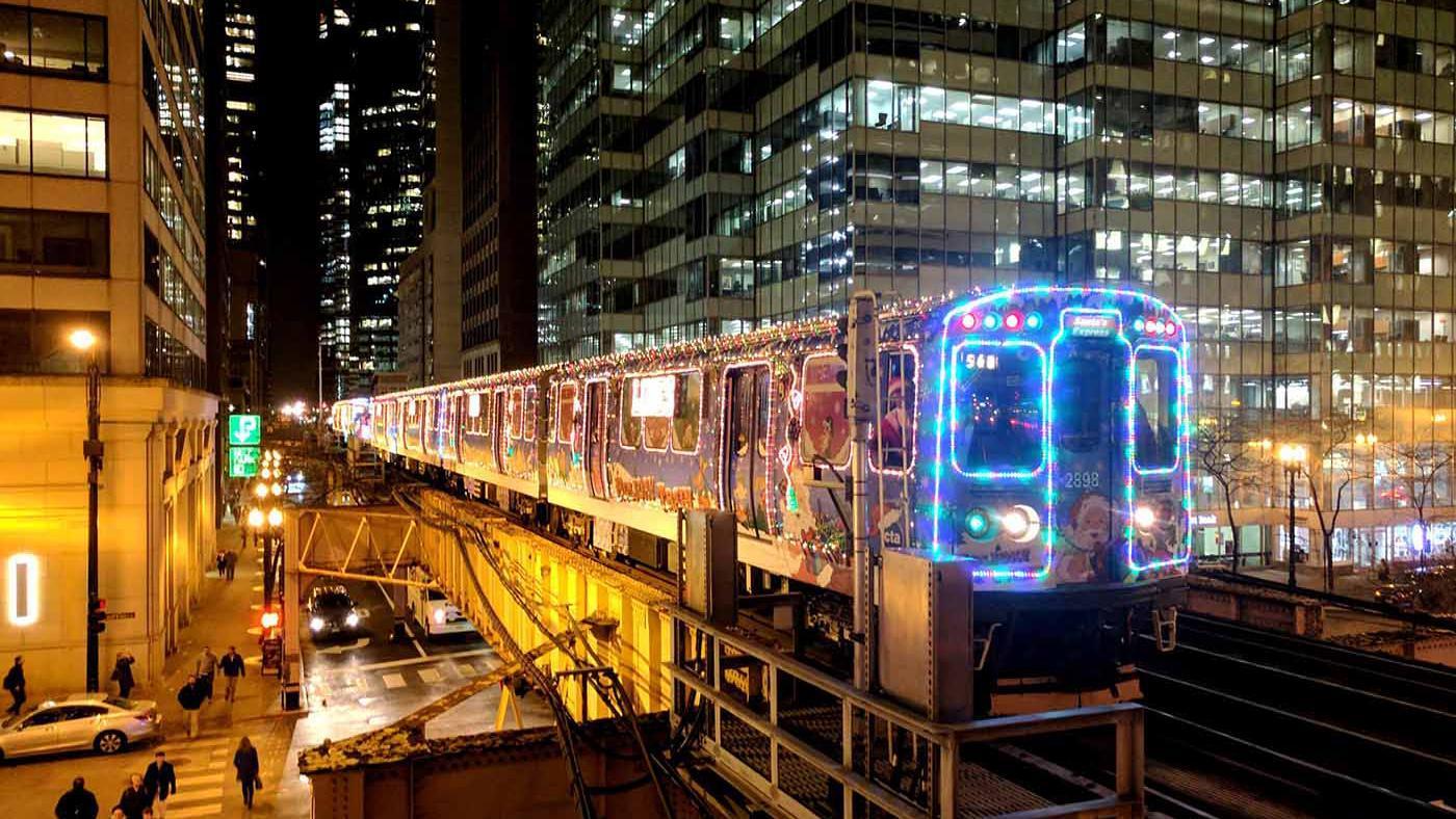 The CTA Holiday Train. Photo: CTA