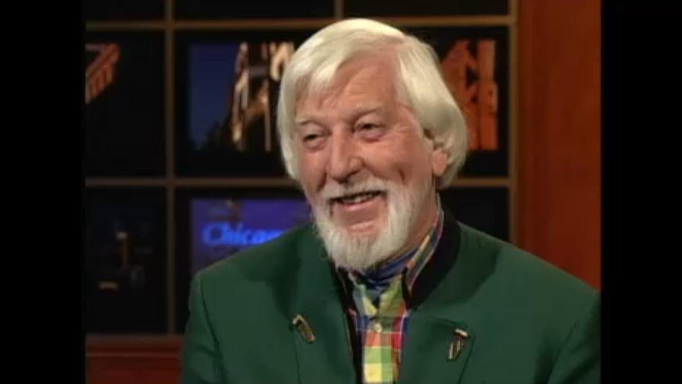 Sesame Street puppeteer Caroll Spinney on WTTW's Chicago Tonight in 2003