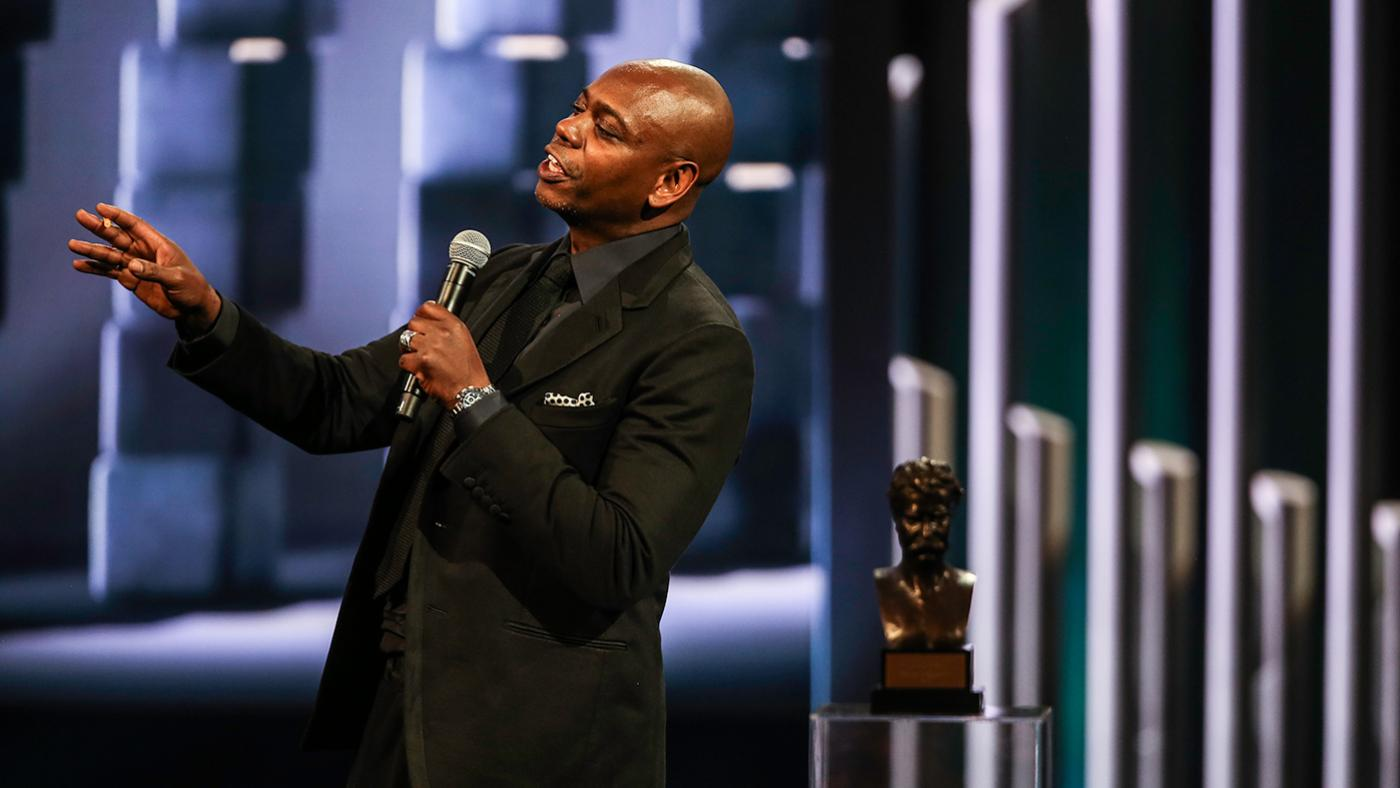 Dave Chappelle is awarded the Mark Twain Prize. Photo: Jati Lindsay