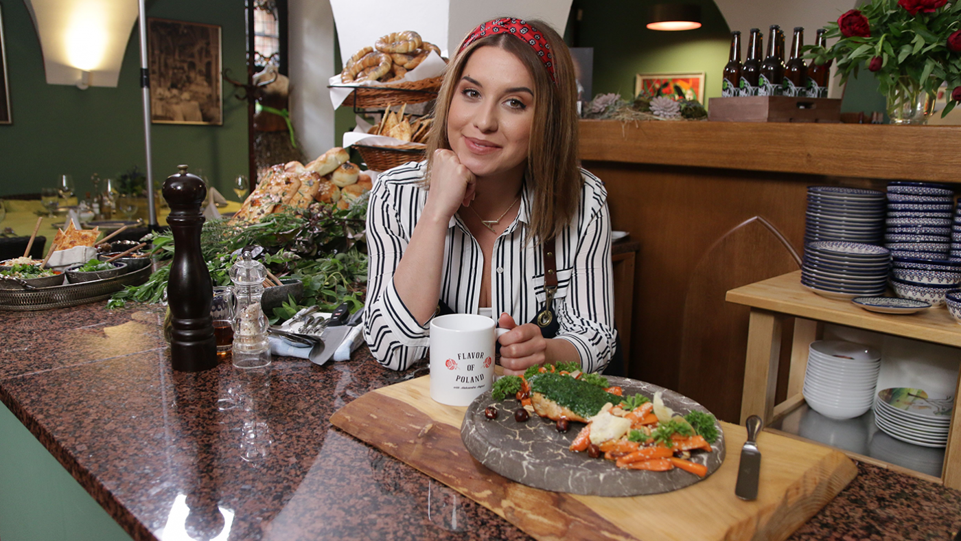 Aleksandra August, the host of Flavor of Poland