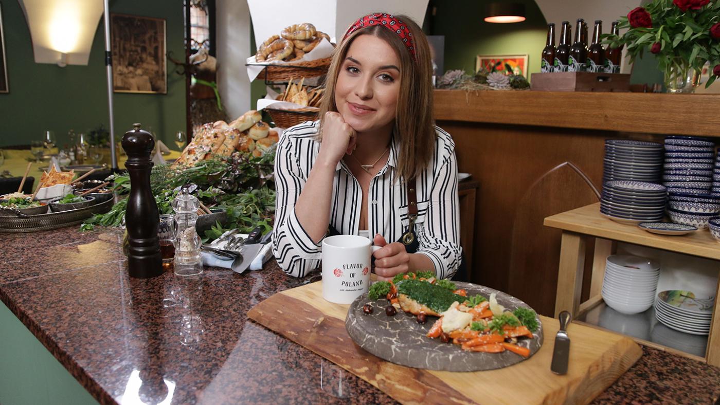 Aleksandra August, the host of Flavor of Poland
