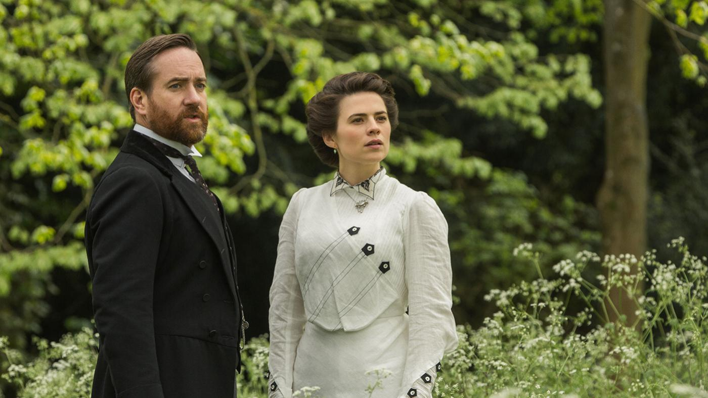 Henry Wilcox and Margaret Schlegel in Howards End. Photo: Starz Entertainment