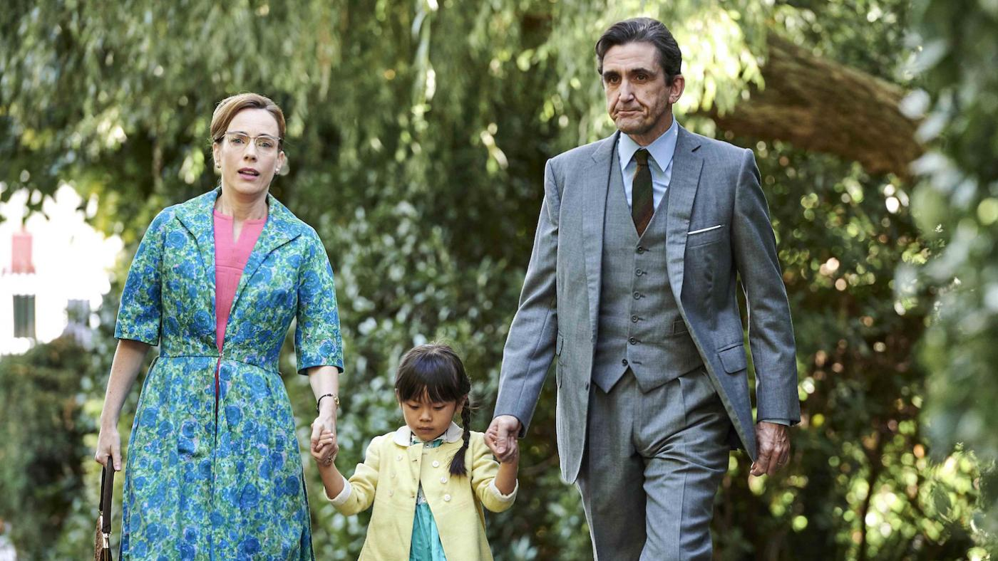 Shelagh and Dr. Turner with Mae in 'Call the Midwife.' Photo: BBC / Neal Street Productions