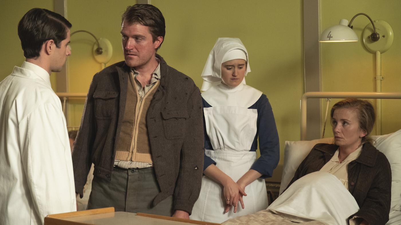 McNulty, Sister Frances, Yvonne Smith, and her husband in 'Call the Midwife.' Photo: BBC / Neal Street Productions