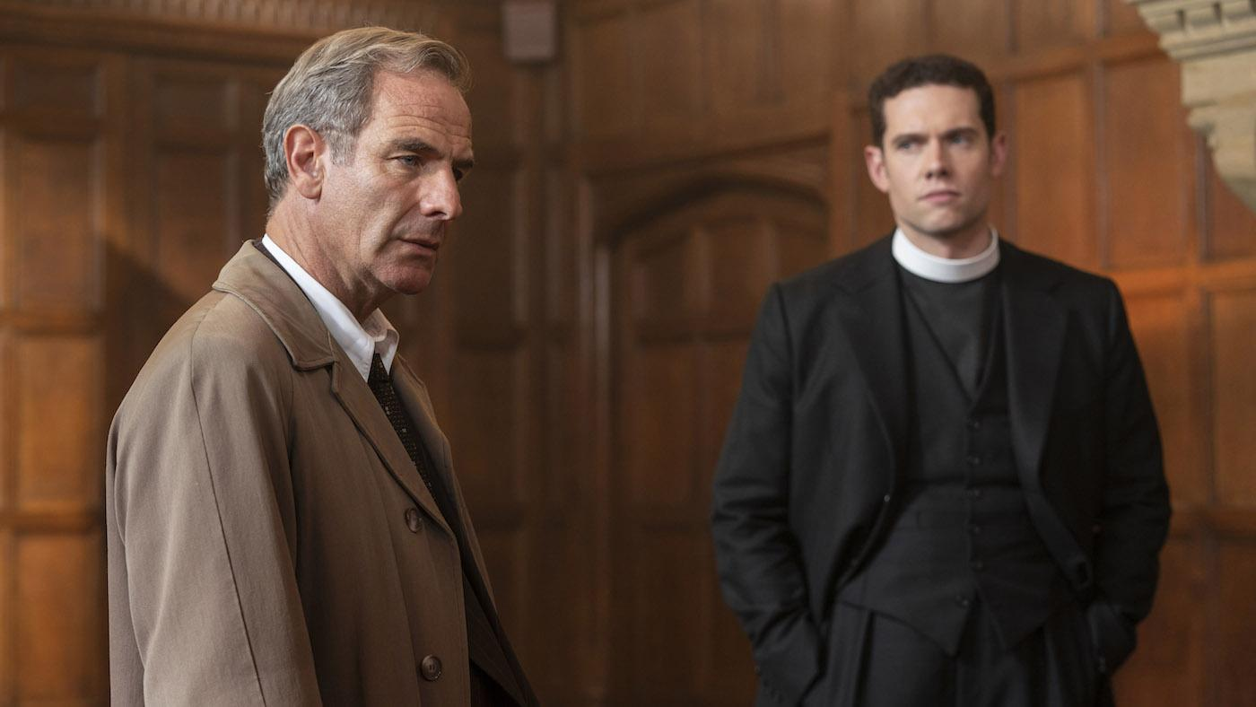 Geordie and Will in season 5 of 'Grantchester.' Photo: Masterpiece