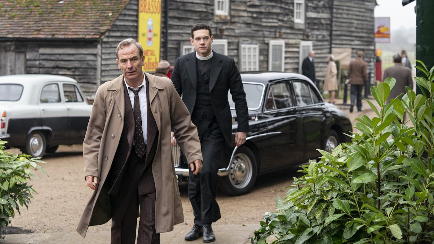 Geordie and Will in season 5 of 'Grantchester.' Photo: Kudos/ITV/Masterpiece