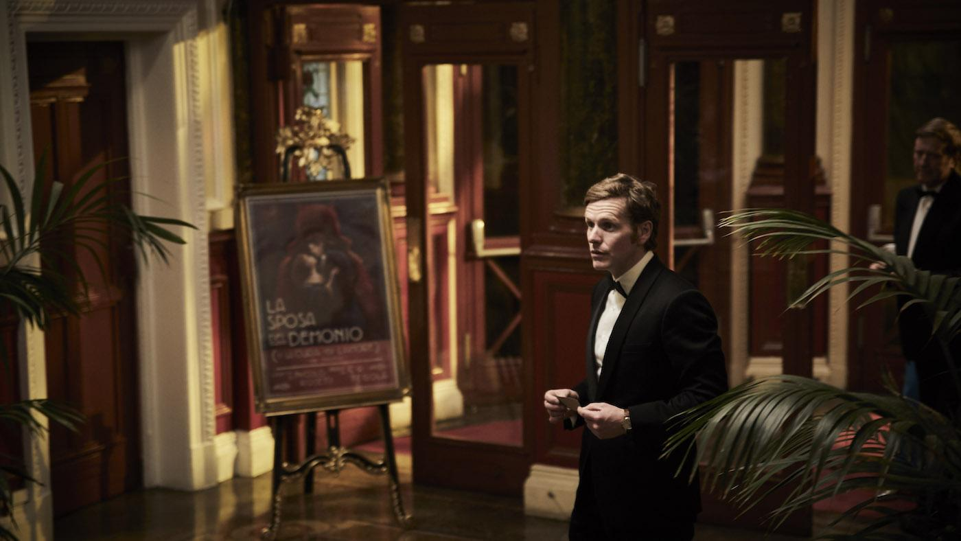 Morse at the opera in 'Endeavour' season 7. Photo: Mammoth Screen