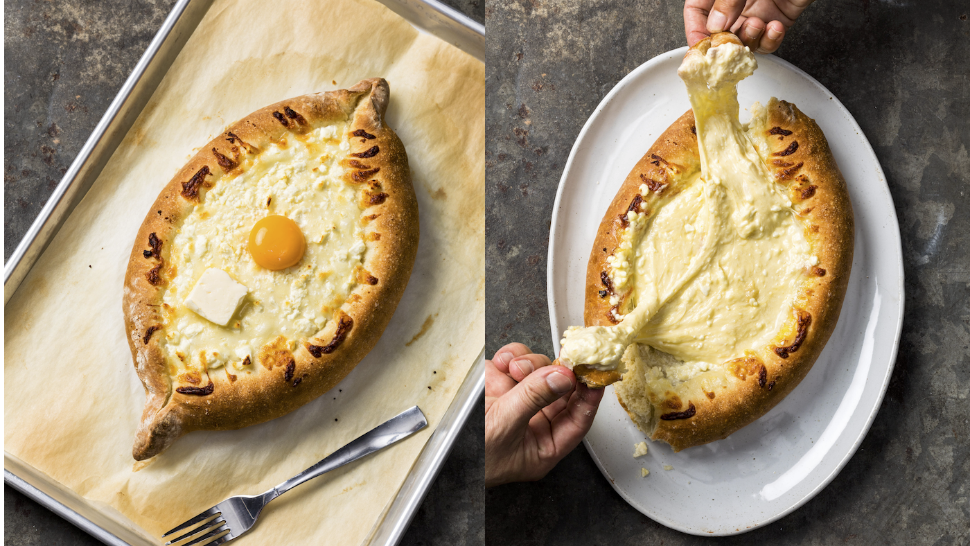 Adjaruli Khachapuri from 'Cook's Country.' Photos: Steve Klise