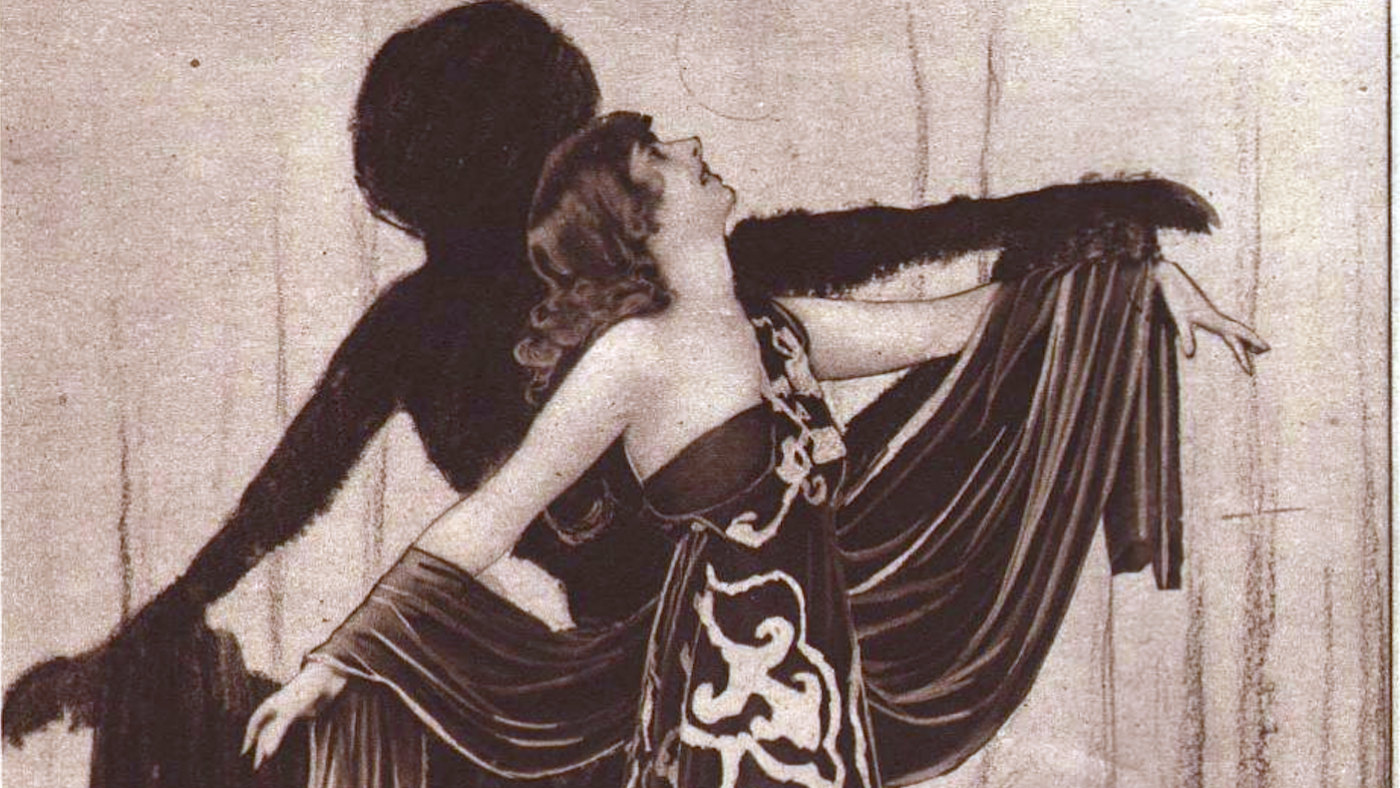 Ruth Page, photographed by Charlotte Fairchild, from an advertisement for Cantilever Shoes, 1922. Image: Wikimedia Commons