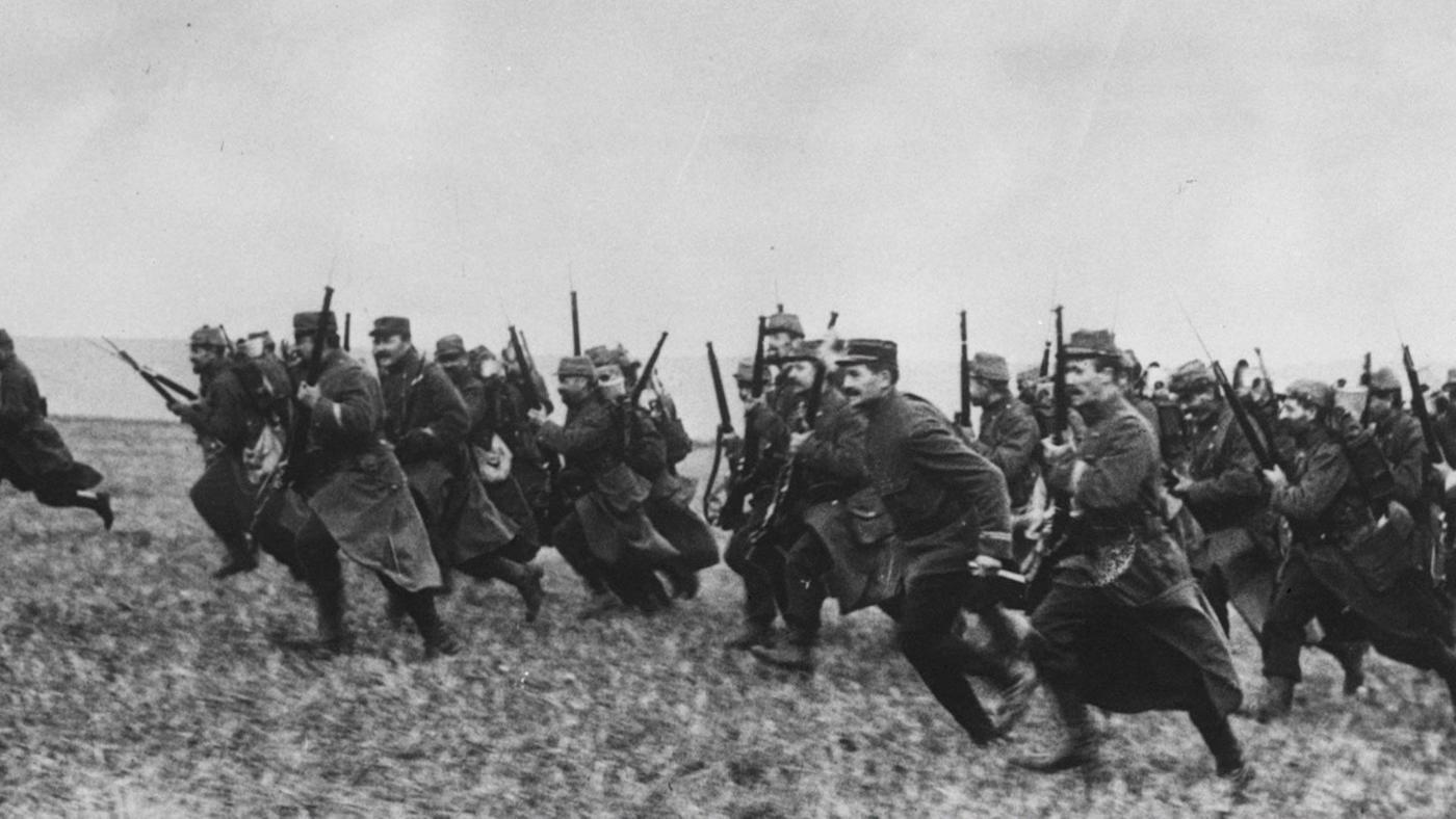 The First Battle of the Marne in 1914