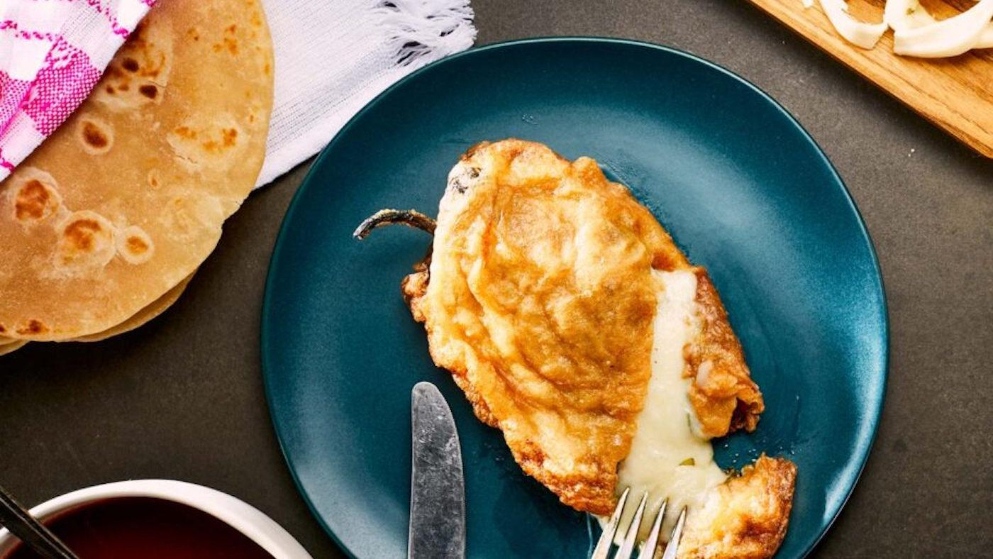 A cheese chile relleno from 'Pati's Mexican Table'