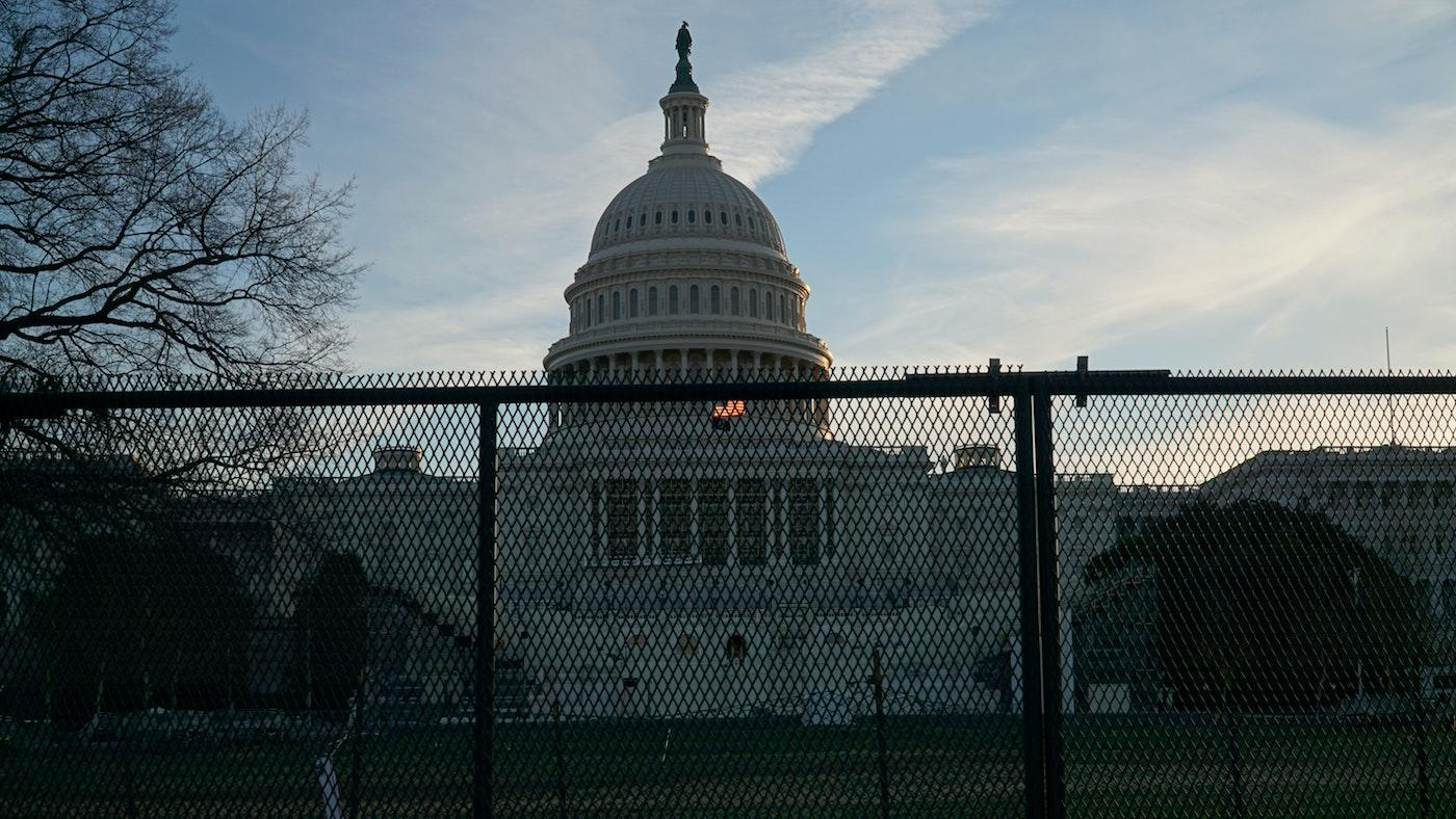 Protective fencing in front of the US Capitol. Photo: Ian Hutchinson on Unsplash