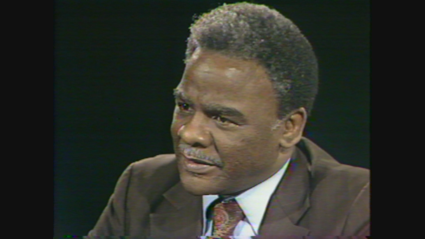 Harold Washington on WTTW's 'Callaway Interviews' in 1980
