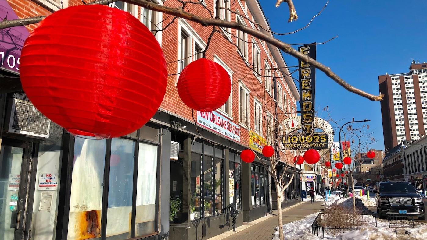 Lanterns for Lunar New Year on Argyle Street. Photo: Courtesy Uptown United