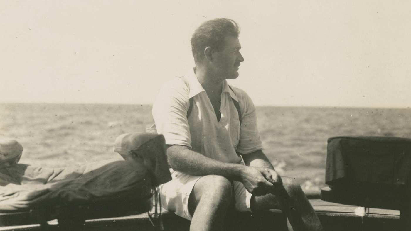 Ernest Hemingway on the fishing boat Anita circa 1929. Photo: Courtesy of Ernest Hemingway Photograph Collection. John F. Kennedy Presidential Library and Museum, Boston