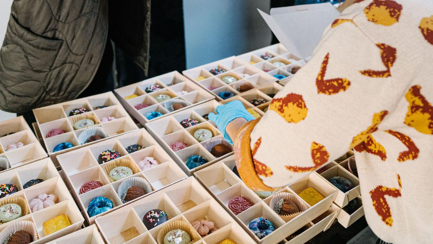 With Warm Welcome's Bakers Box in New York City. Photo: Ben Hon