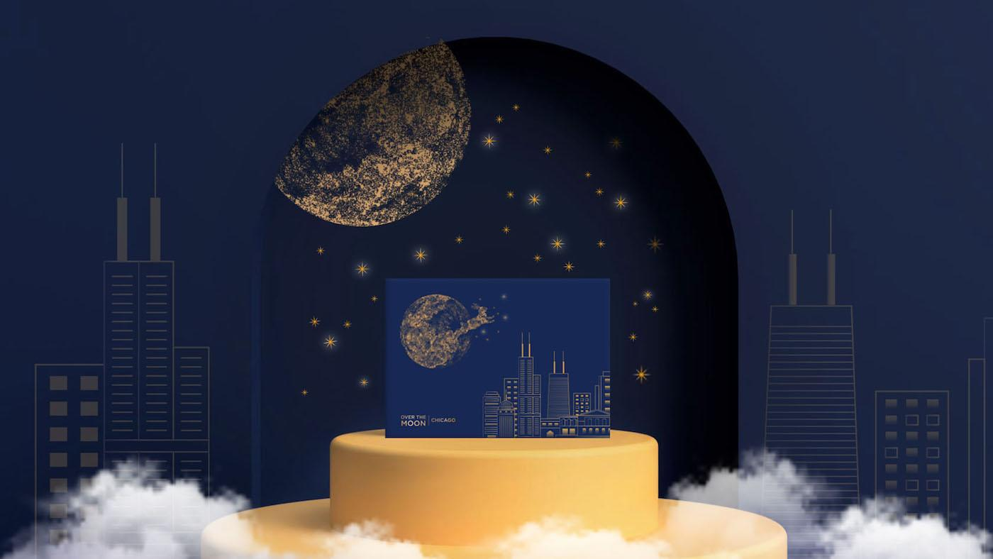 Over the Moon - Chicago mooncake boxes. Image: Cindy Tan