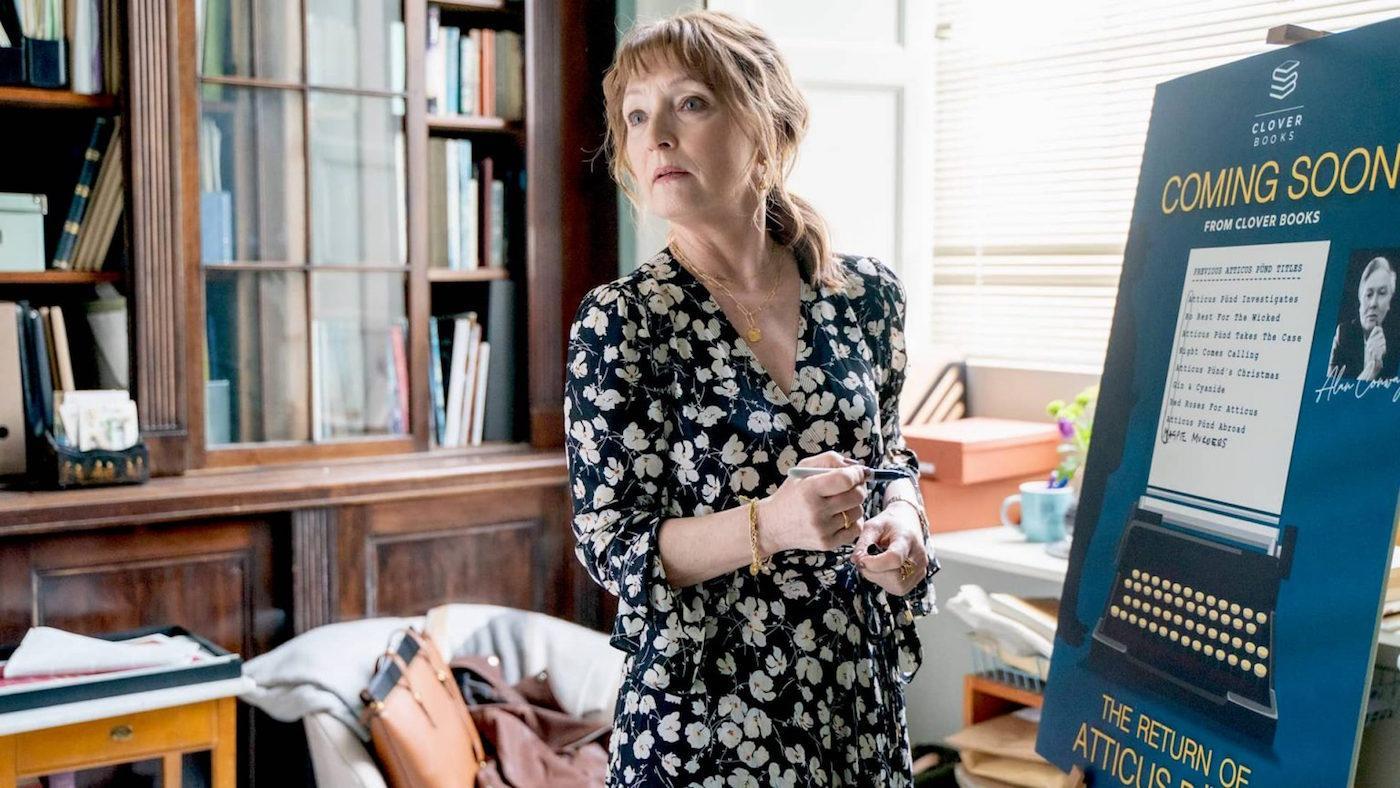 Lesley Manville as Susan Ryeland in 'Magpie Murders.' Photo: Bernard Walsh