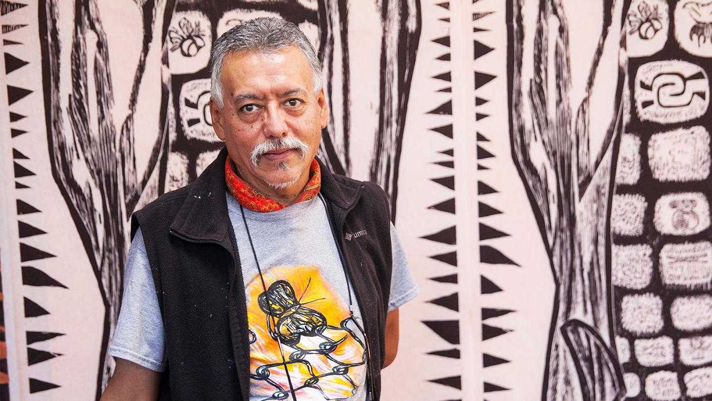 Hector Duarte in his studio