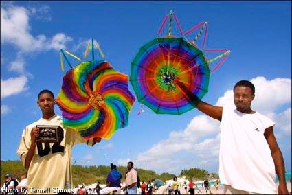 In Bermuda, people decorate and make hexagonal kites to fly on Easter.