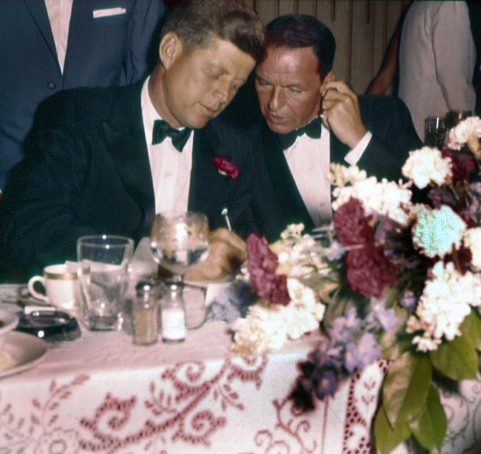 JFK with Frank Sinatra at the Democratic National Convention in 1960. Photo: Courtesy Photofest