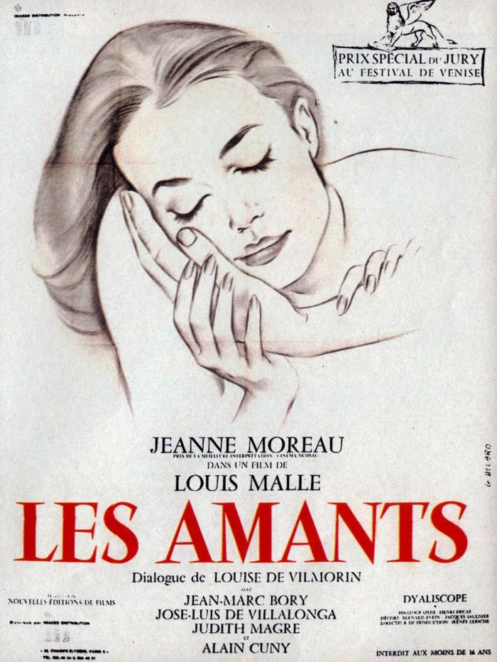 The poster for Louis Malle's Les Amants