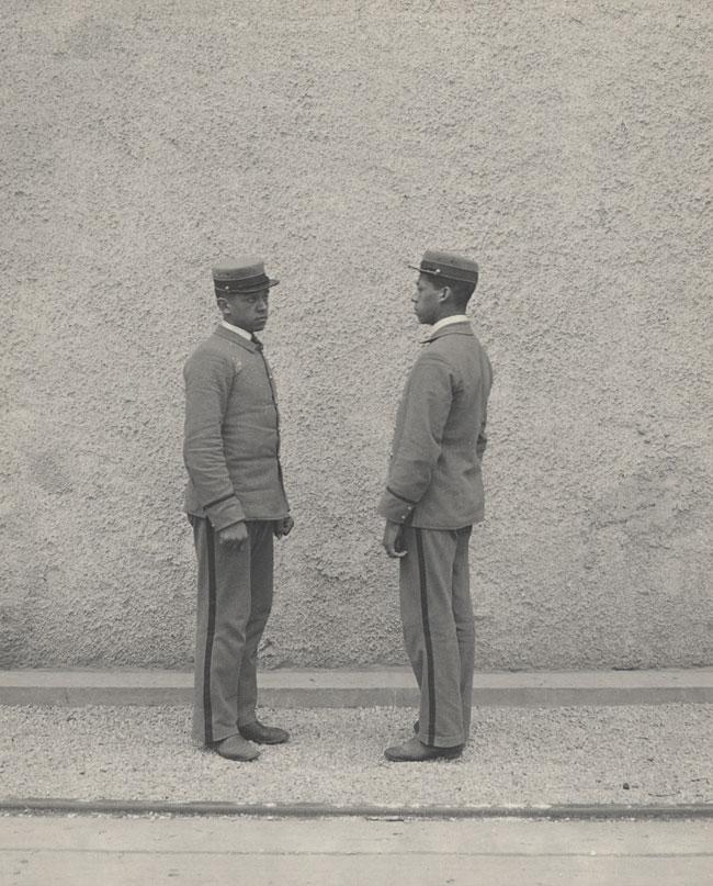 Two black workers at the 1893 World's Columbian Exposition in Chicago