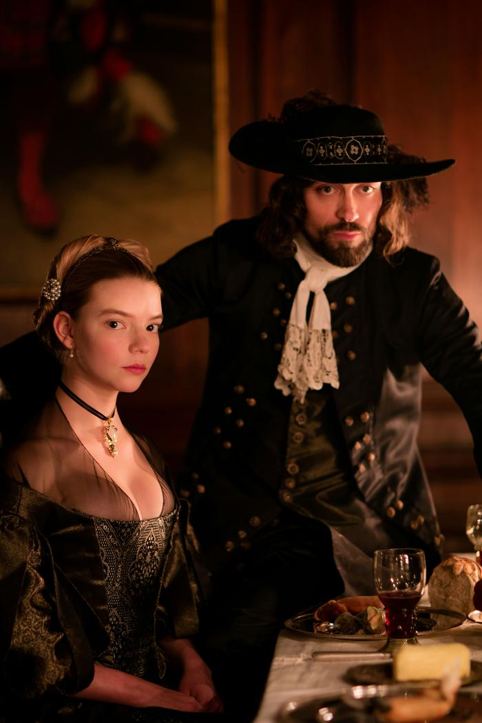 Anya Taylor-Joy as Nella and Alex Hassell as Johannes Brandt in The Miniaturist. Photo: The Forge/Laurence Cendrowicz for BBC and MASTERPIECE