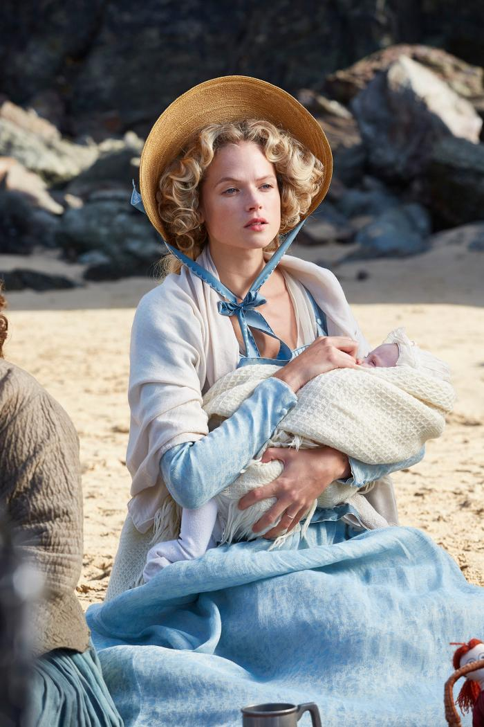 Gabriella Wilde as Caroline in Poldark. Photo: Mammoth Screen for BBC and MASTERPIECE