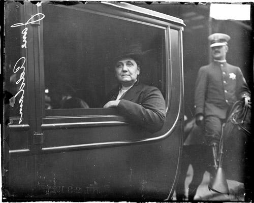 Jane Addams, the founder of Hull House, in 1915.
