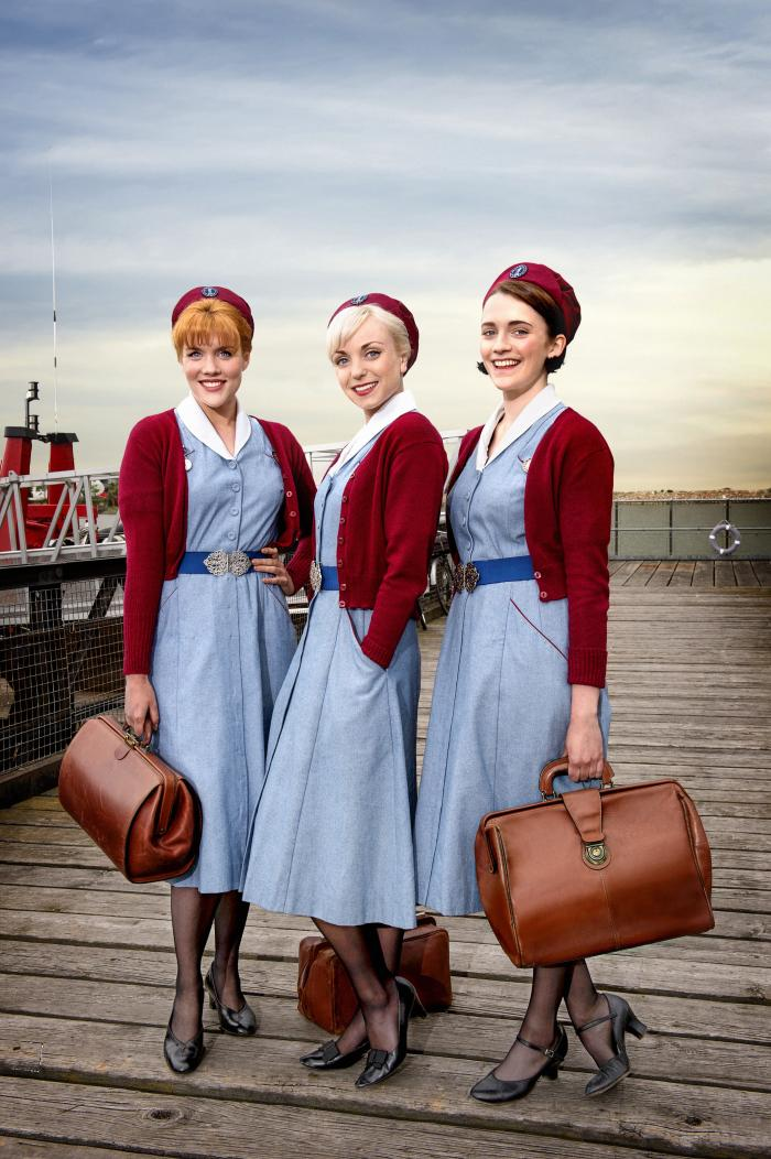 Patsy, Trixie, and Barbara in 'Call the Midwife.' Photo: Red Productions Ltd 2015
