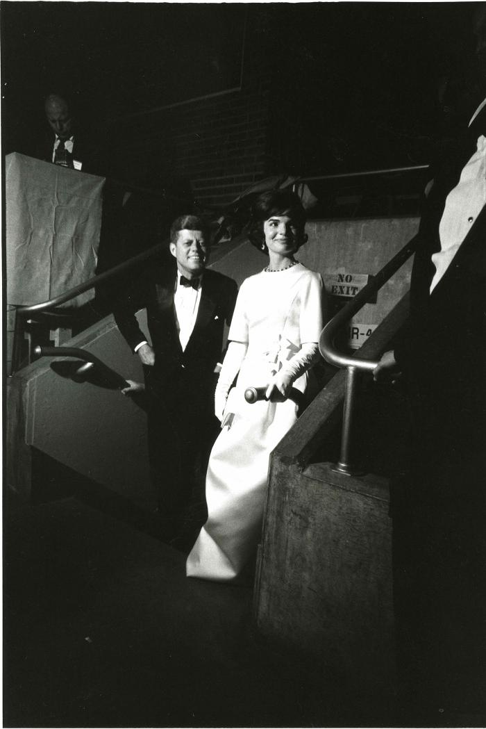 John and Jackie Kennedy at the Pre-Inaugural Gala. Photo: Courtesy Jacques Lowe