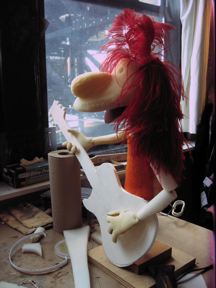 A half-completed puppet by David Rudman. Photo: Courtesy Spiffy Pictures